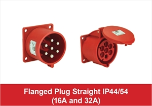 Picture for category 7 Pole Flanged Plug Straight IP44/54