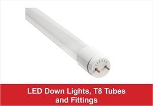 Picture for category LED Down Lights, T8 Tubes and Fittings