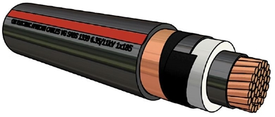 Picture of XLPE Copper Cable Type B (400mm²)
