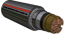 Picture of PILC Copper SWA Cable (185mm²)