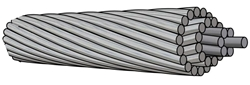Picture of Wolf ACSR Cable (96.77mm²)