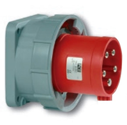 Picture of Power Twist Flanged Plug Straight IP66/67 (63A)