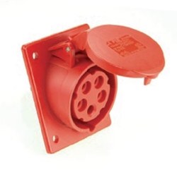 Picture of Flanged Socket Sloping IP44/54 (16A)