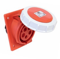 Picture of Flanged Socket Sloping IP67 (16A)