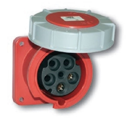 Picture of Power Twist Flanged Socket Straight IP66/67 (125A)